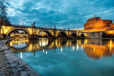 Sticker S.Angelo, pont, château, roma, Italie