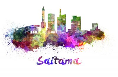 Sticker Saitama, Horizon, aquarelle