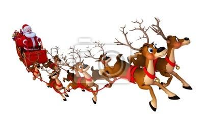 Santa avec le traîneau
