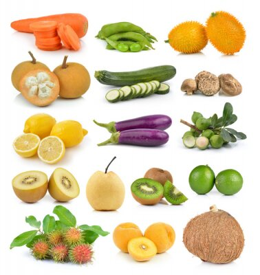 Sticker Santol, carottes, pois, champignons, courgettes, citron macadamia, coc