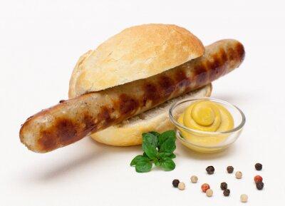Sticker Saucisse grillée dans un petit pain