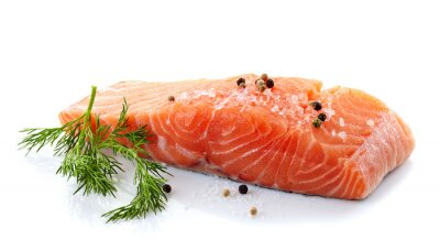 Sticker saumon cru frais