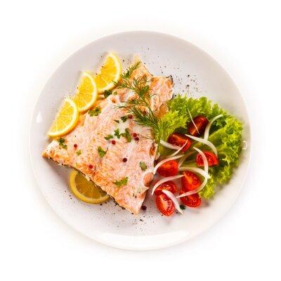 Sticker Saumon et légumes rôtis