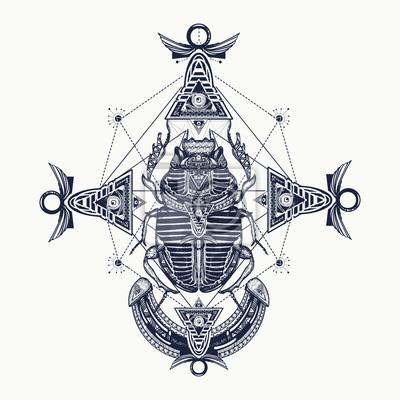 Scarabee Tatouage Egypte Ancienne Mythologie Scarabee Egyptien