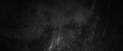 Sticker Scary dark walls, slightly light black concrete cement texture for background