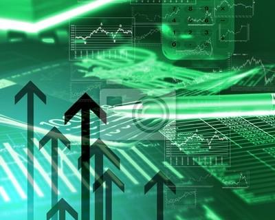 Schémas financiers, tableaux et graphiques