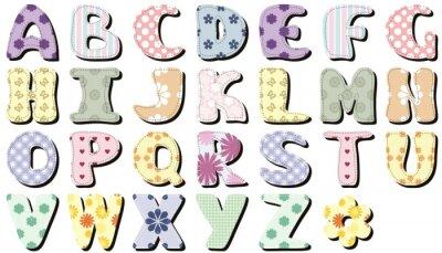 Sticker Scrapbook alphabet sur fond blanc