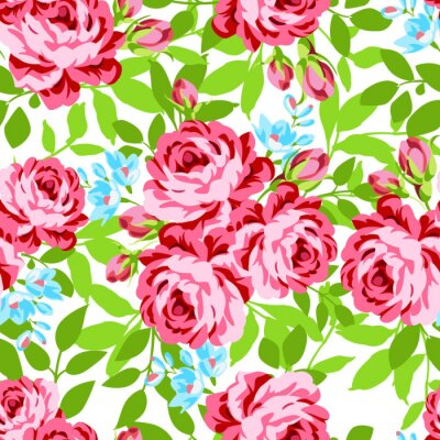 Sticker Seamless, floral, modèle, jardin, rose, roses
