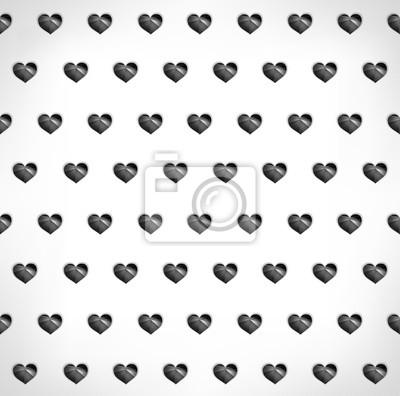 Seamless géométrique polygonale noir coeurs fond
