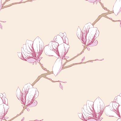 Sticker Seamless magnolia_3-03