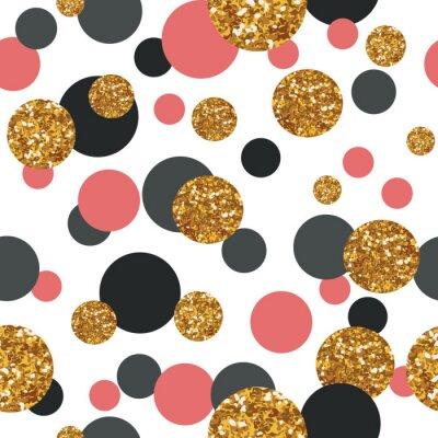 Sticker Seamless, modèle, Doré, scintillement, points