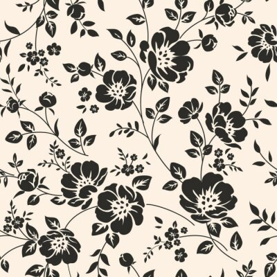 Sticker Seamless, modèle, fleurs