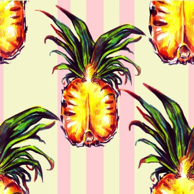 Sticker Seamless, modèle, tropical, Usines, fruit