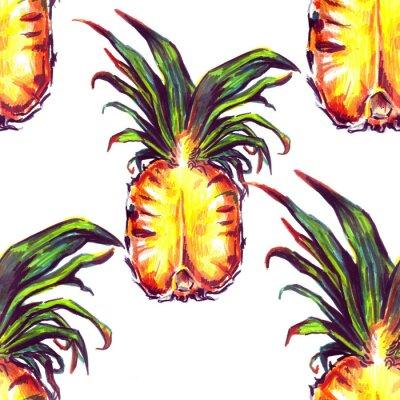 Sticker Seamless, modèle, tropique, Usines, fruit
