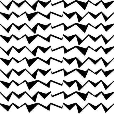 Sticker Seamless, noir, blanc, décoratif, vecteur, fond, résumé, géométrique ...