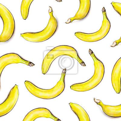 Seamless pattern. Illustration d'aquarelle. Fruits tropicaux. Handwork