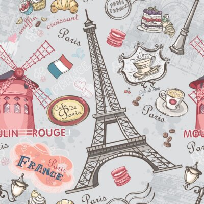 Sticker Seamless texture à l'image des sites de Paris