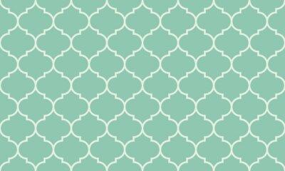 Sticker Seamless turquoise large vecteur de patron marocain