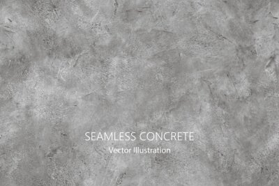 Sticker Seamless vector gray concrete texture. Stone wall background.