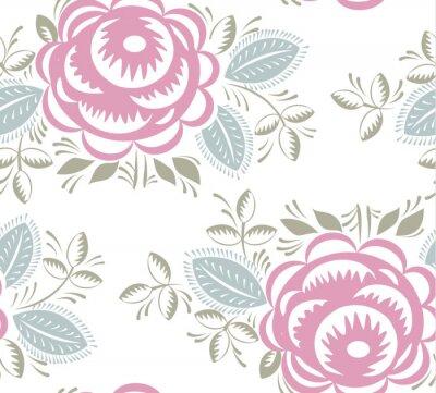 Sticker Seamless, vendange, roses, modèle