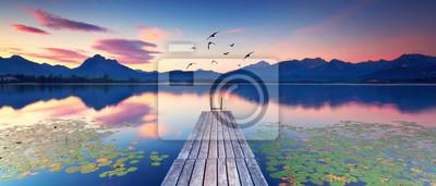 Sticker Seerosen am Alpensee