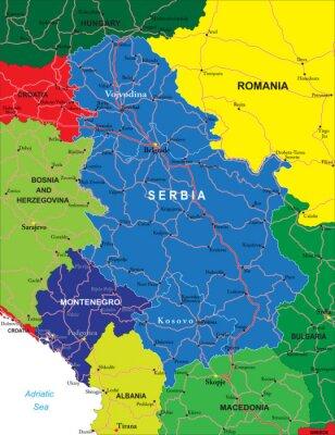 Serbie-et-Monténégro carte