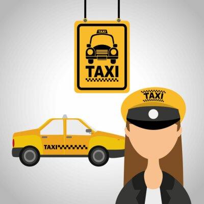 Sticker service de taxi