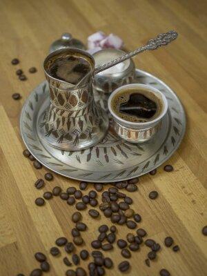 Set avec le café turc traditionnel bosniaque