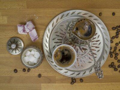 Set avec le café turc traditionnel de Bosnie, frais généraux