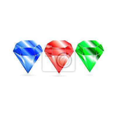 Set brillant rubis diamant émeraude