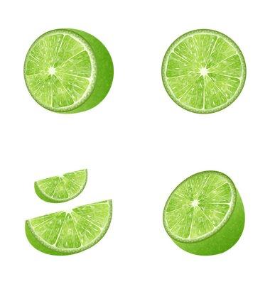Sticker Set de fruits Lime