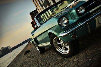 Sticker Shelby Réplique du Mustang 350 dans le soleil couchant