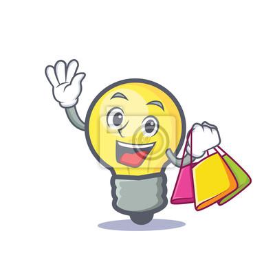 Dessin Shopping shopping ampoule dessin animé stickers pc portable • autocollants