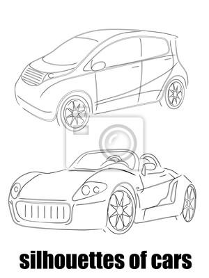 silhouette abstraite de voitures