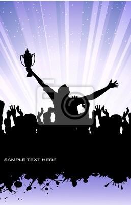 silhouette abstraite du champion
