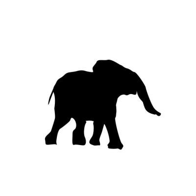 Sticker Silhouette bébé éléphant