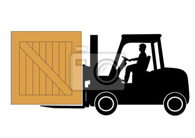 silhouette chargeur avec une boîte