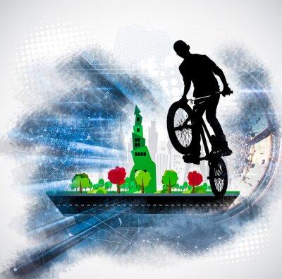 Sticker Silhouette d'un cycliste