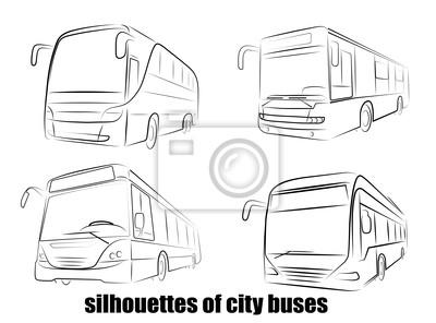 silhouette de bus