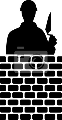 Silhouette de couche de briques