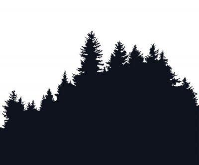 Sticker Silhouette de la forêt