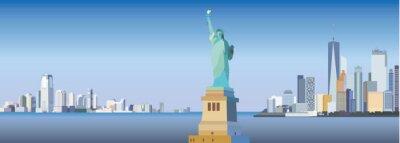 Sticker Silhouette de New York-ville