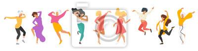 Sticker Silhouette de personnes dansant