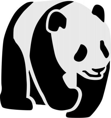 Sticker Silhouette, panda