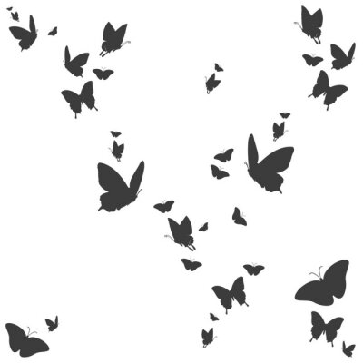 Sticker Silhouetten von Schmetterlingen