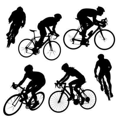 Sticker silhouettes cyclistes