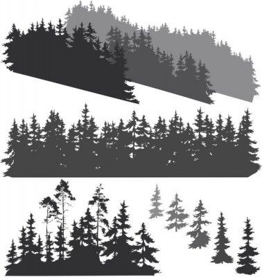 Sticker Silhouettes de la forêt