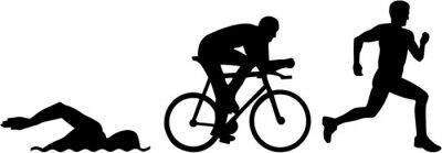 Silhouettes de triathlon