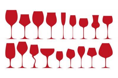 Sticker Silhouettes de verres