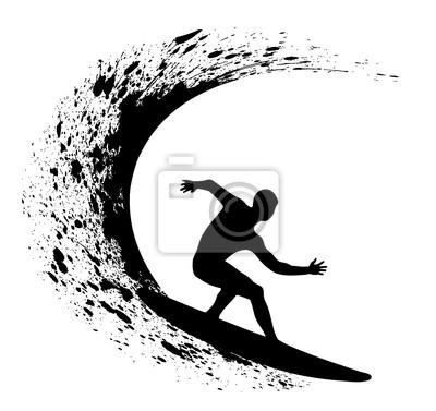 silhouettes des surfeurs